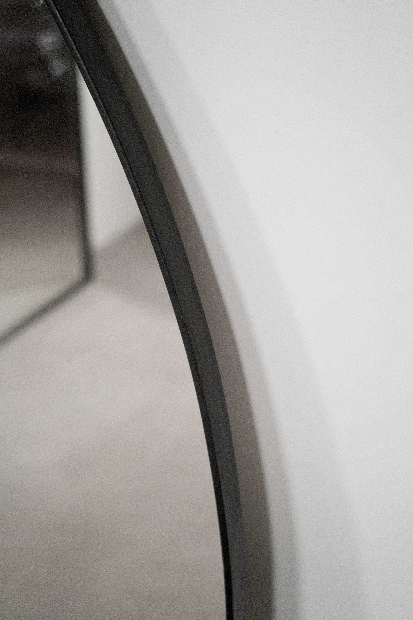espejo de diseño elegante negro cristal