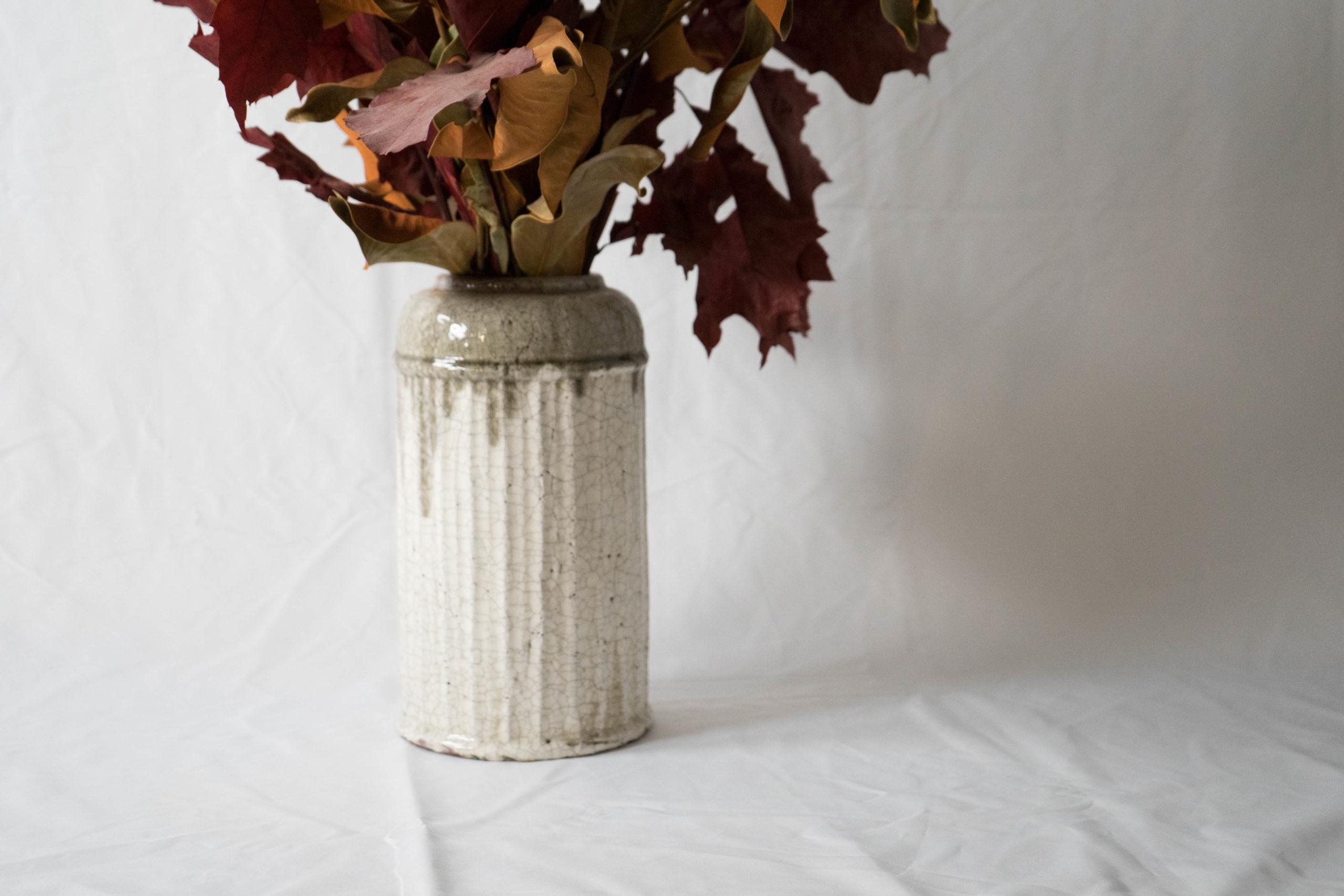 jarron ceramico cilindro