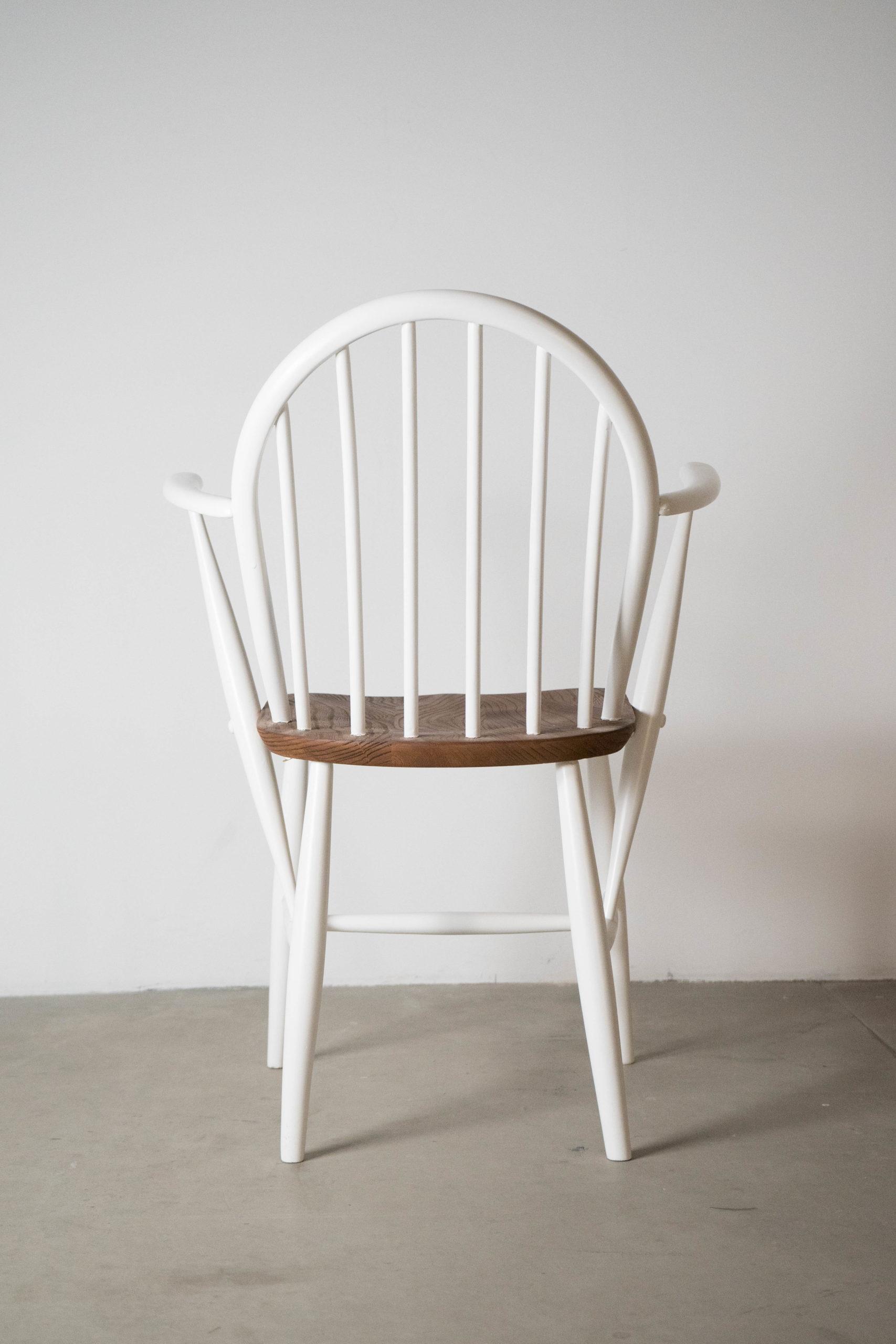 silla ercol dining vintage blanca