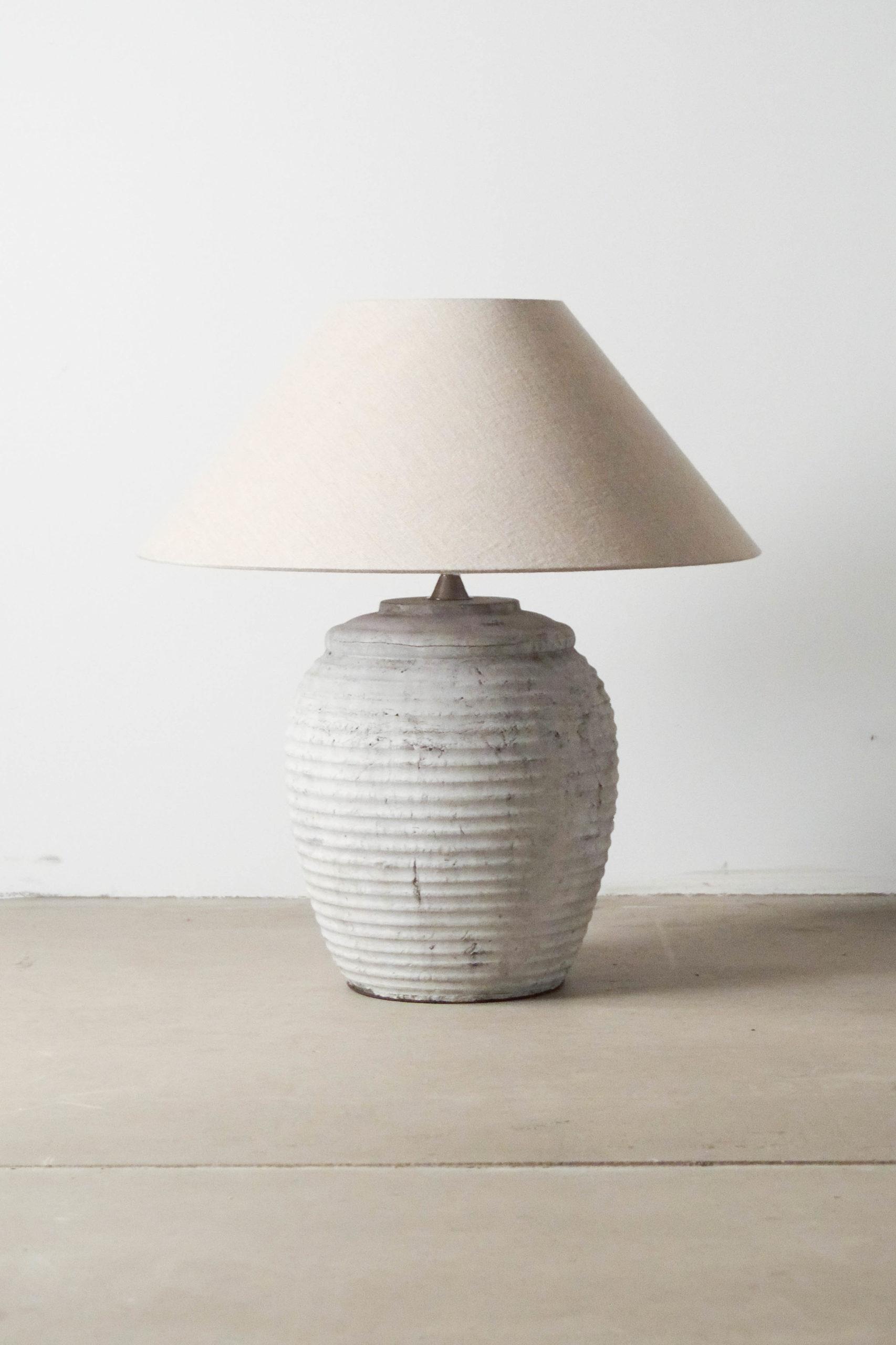 lampara ceramica hecha a mano terracota salon lamparita barro