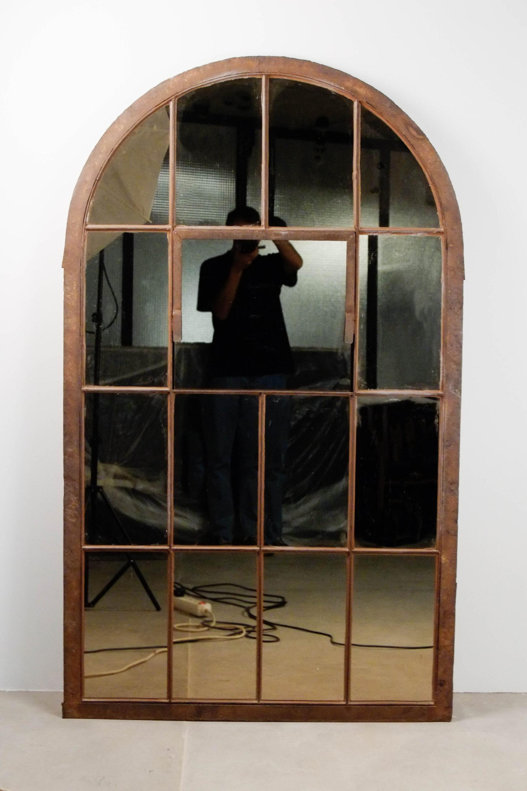 espejo vintage ventana de diseño salon grande
