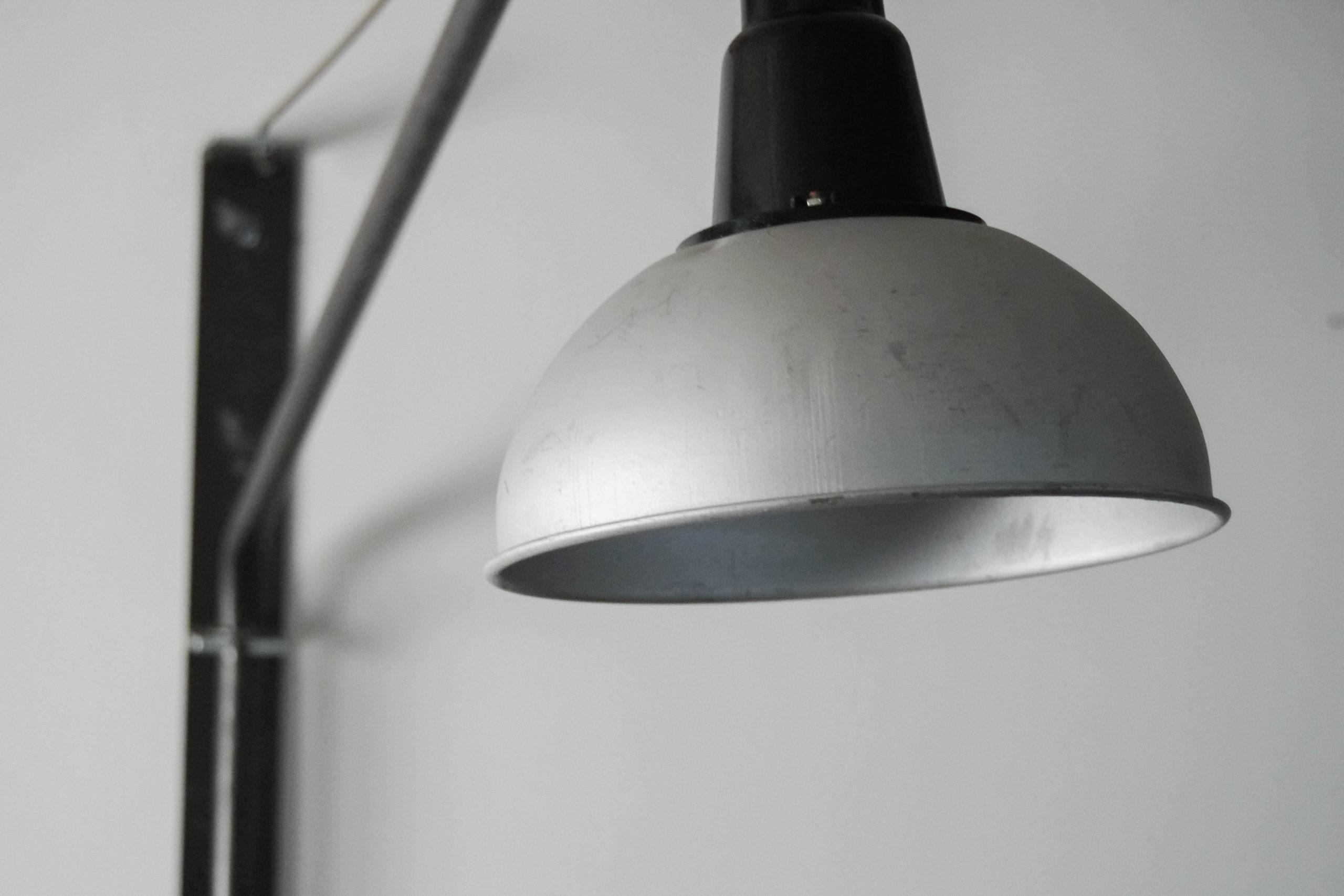 lampara pantalla de hierro industrial