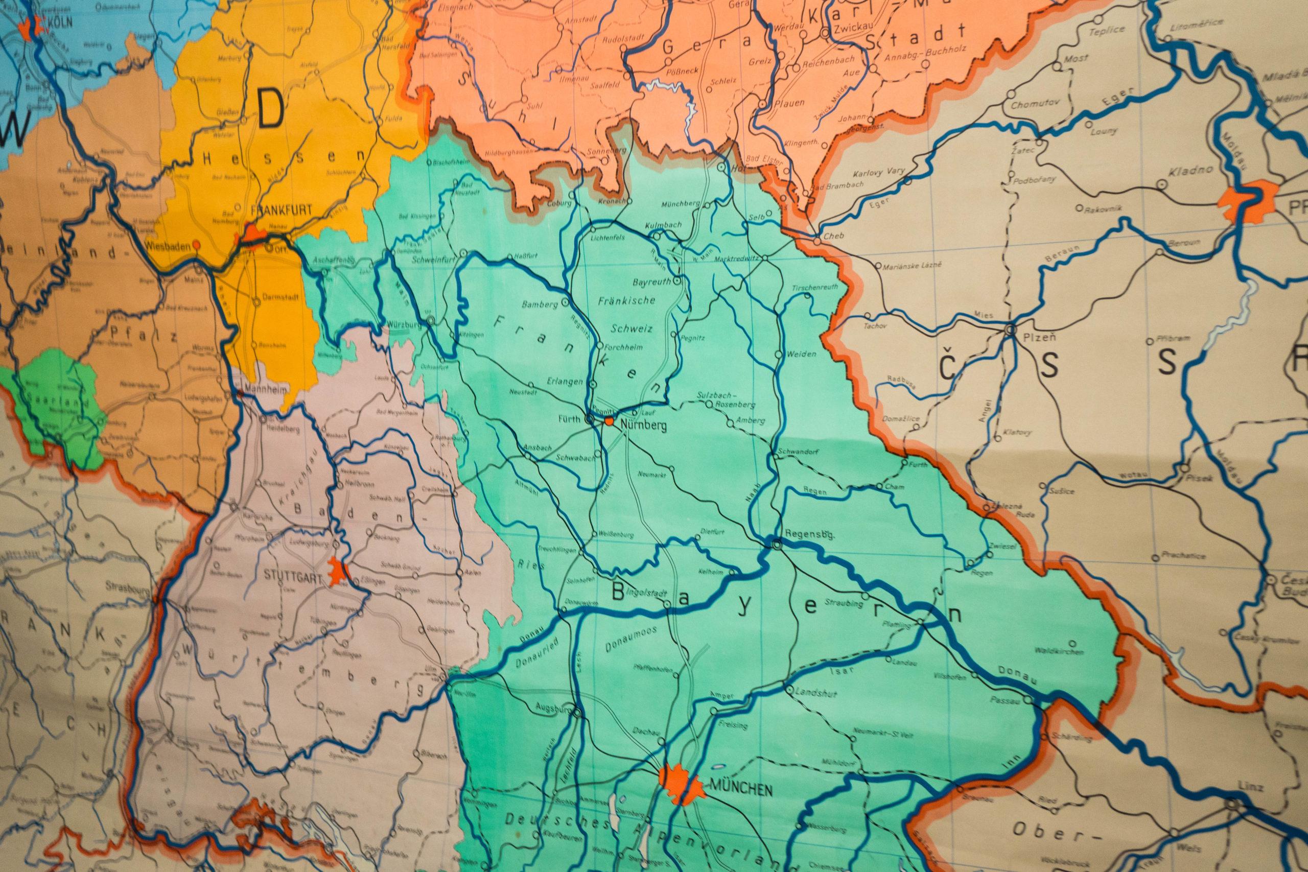 detalle de mapa de colores