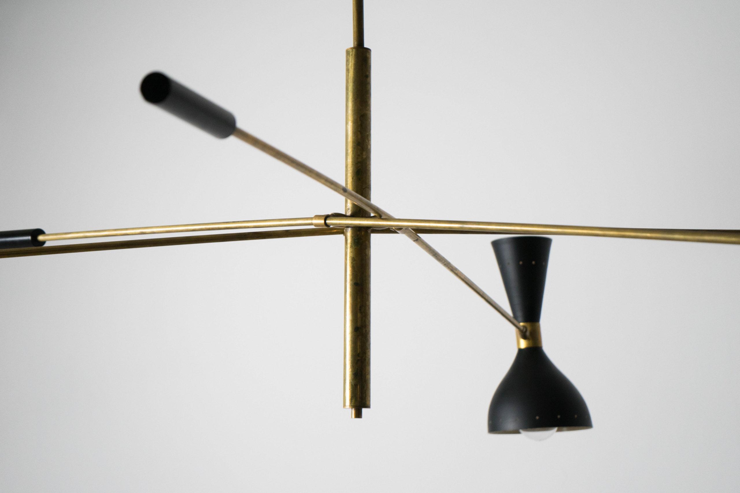 lampara de techo de laton luz elegante