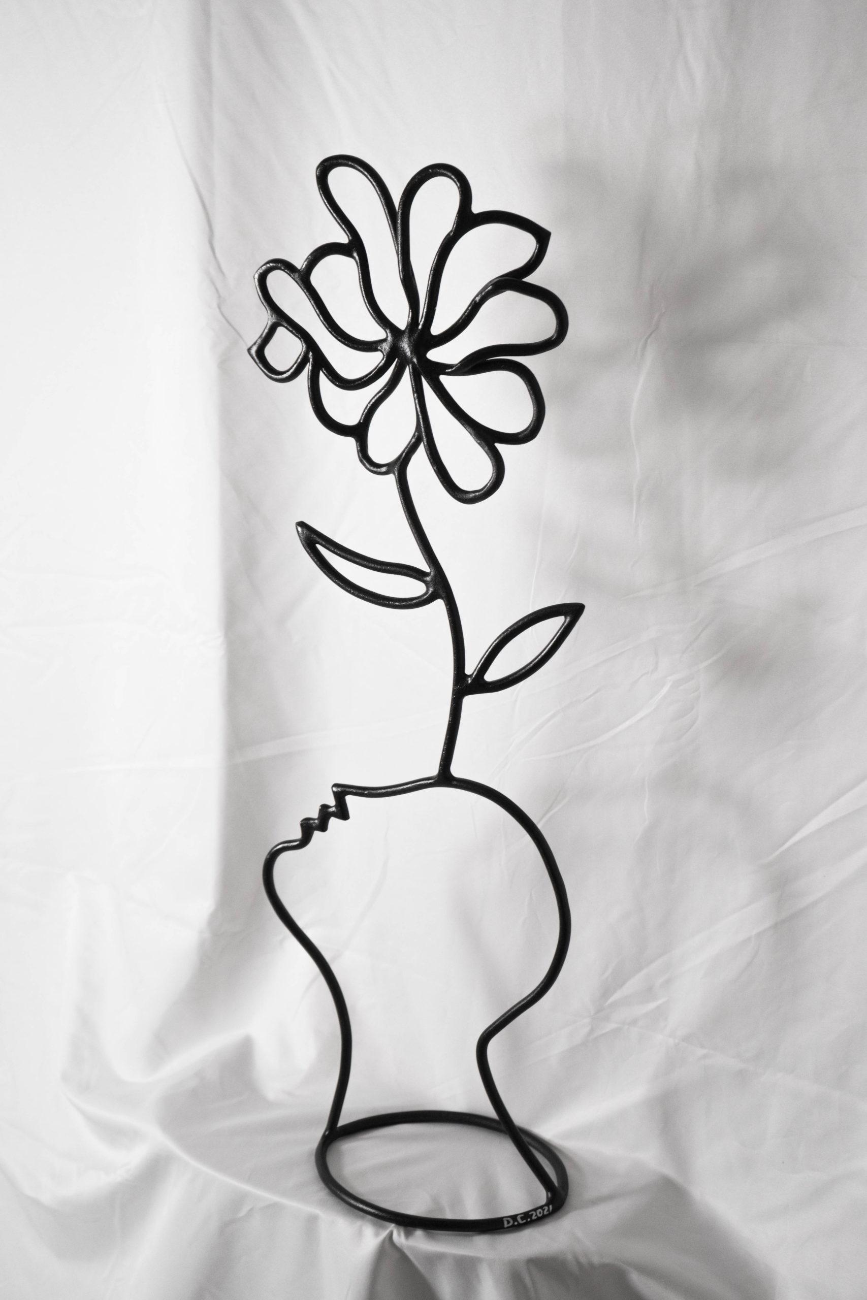 escultura decorativa de diseño hecha a mano cabezas