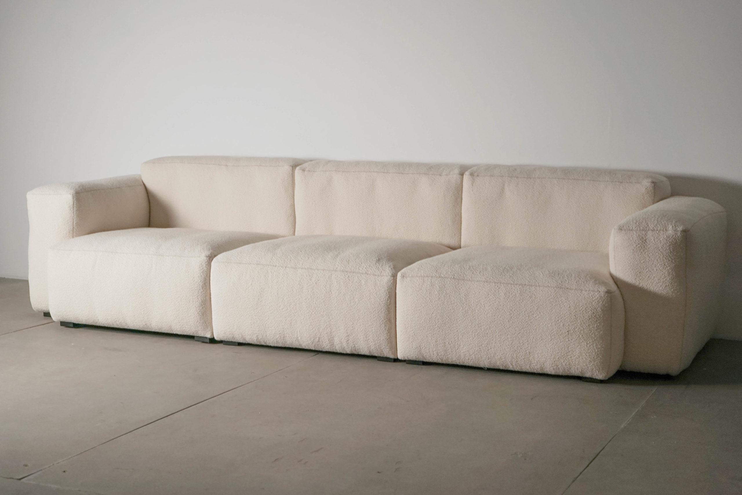 sofá HAY blanco tapizado