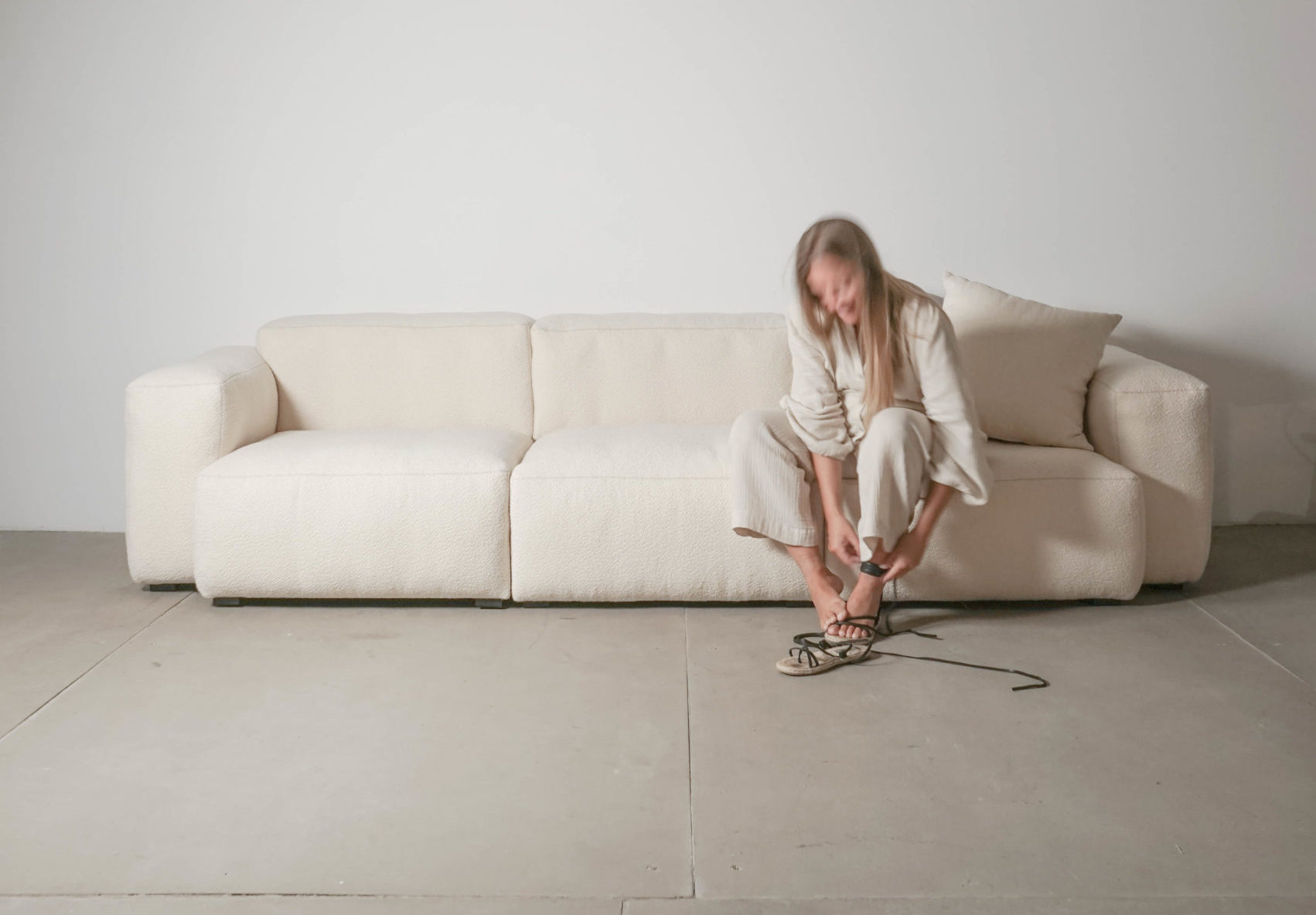 sofa grande blanco